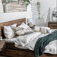 Wansbeck Wooden Bed Frame with Drawers | Handmade UK